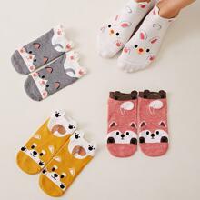 Karikatur Muster Sockchen 4 Paare