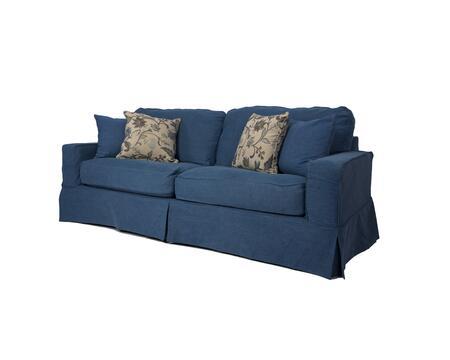 SU-108500-410046 Americana Slipcovered Sofa in Indigo