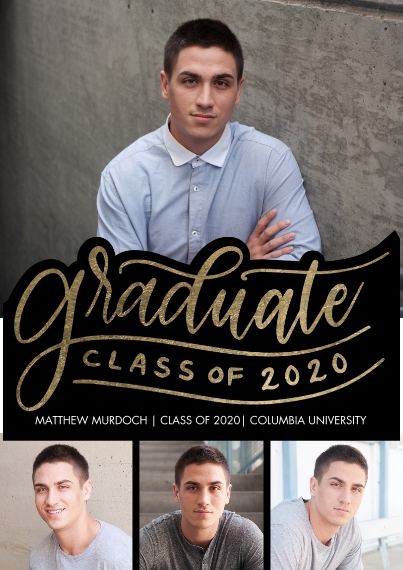2020 Graduation Announcements Flat Glossy Photo Paper Cards with Envelopes, 5x7, Card & Stationery -2020 Graduate Rustic by Tumbalina