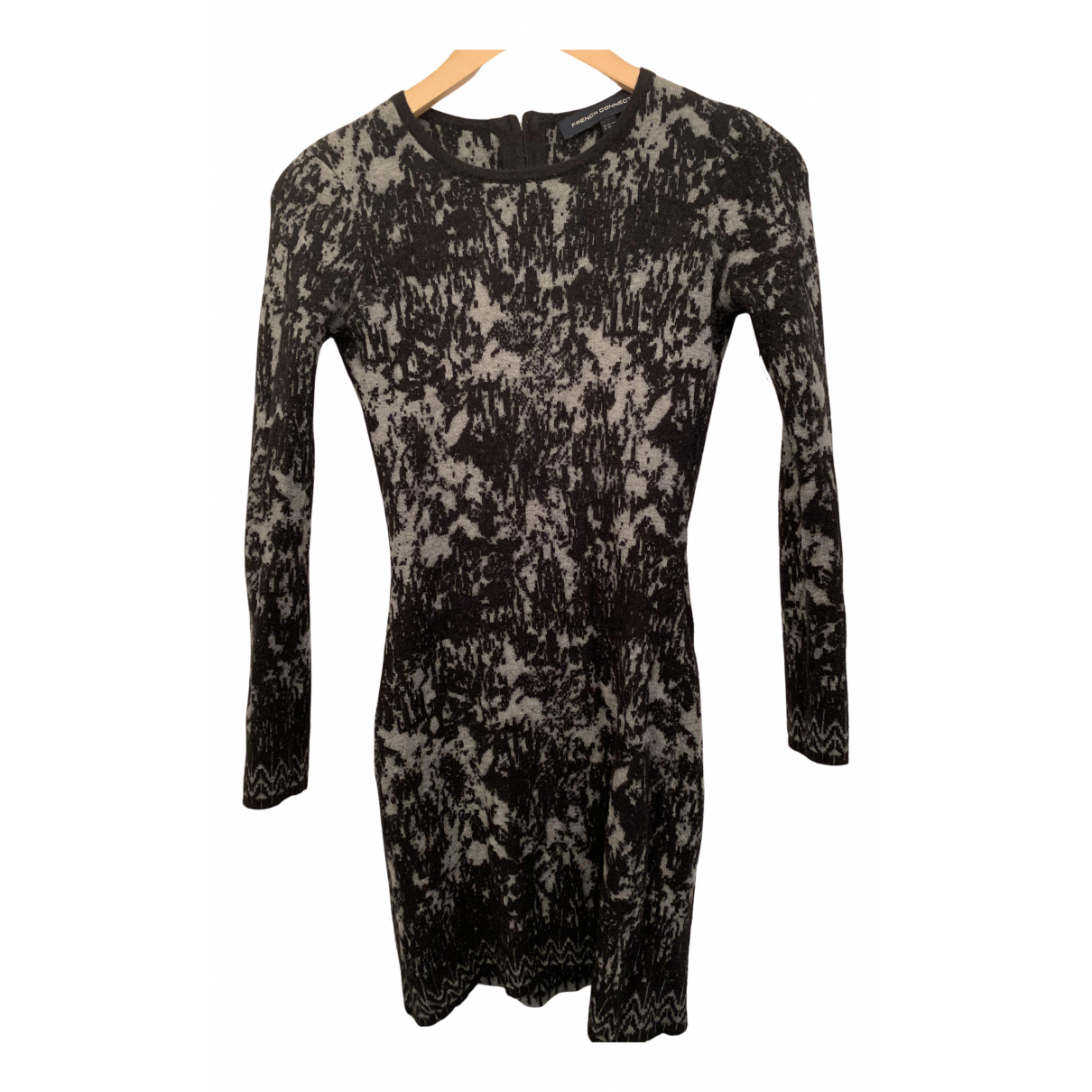 French Connection \N Kleid in  Schwarz Wolle