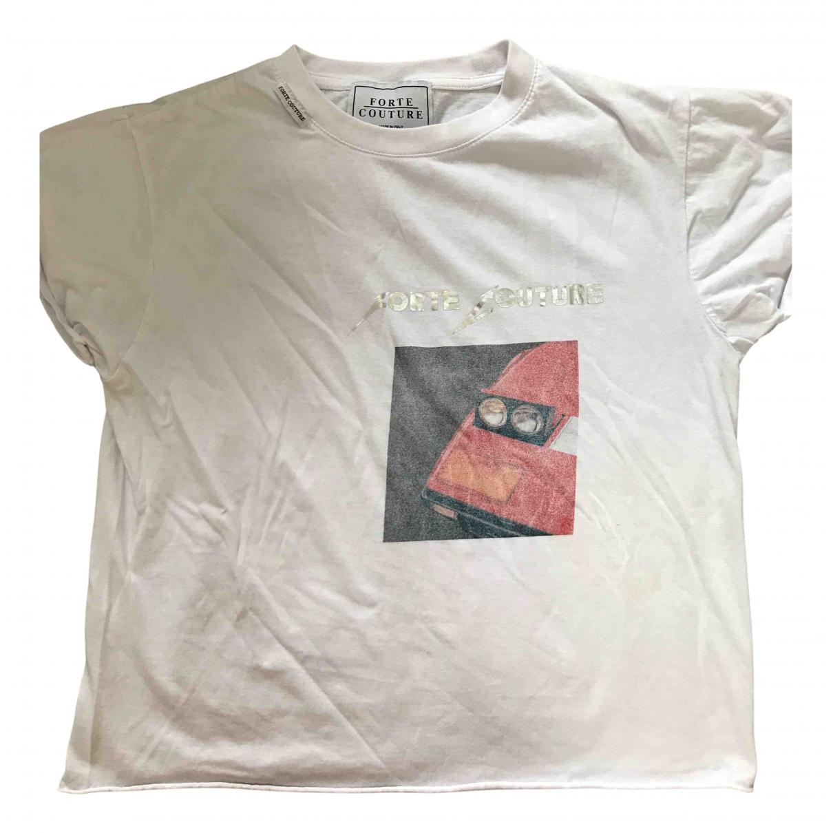 Forte Couture - Top   pour femme en coton - blanc