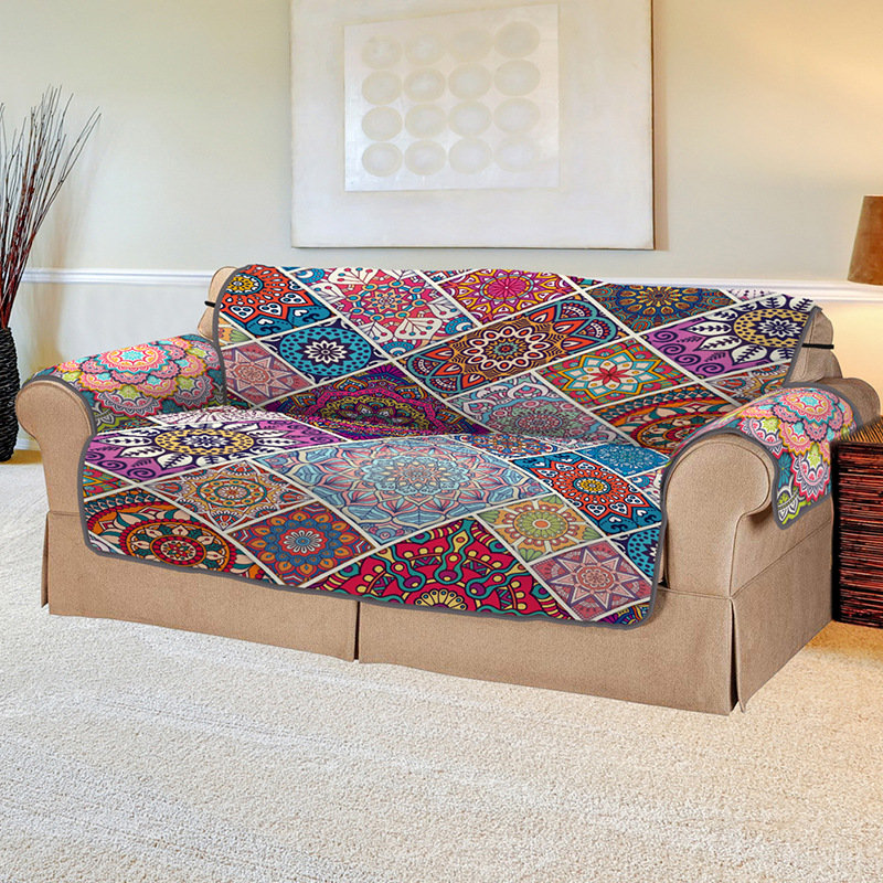 3D Digital Printing Pet Sofa Cover Bohemian Square Pet Sofa Cushion