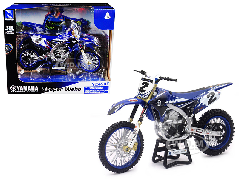 Yamaha Factory Racing YZ450F 2 Cooper Webb 1/12 Diecast Motorcycle Model by New Ray