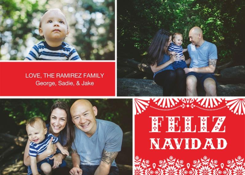 Christmas Photo Cards Flat Glossy Photo Paper Cards with Envelopes, 5x7, Card & Stationery -Feliz Navidad Fun