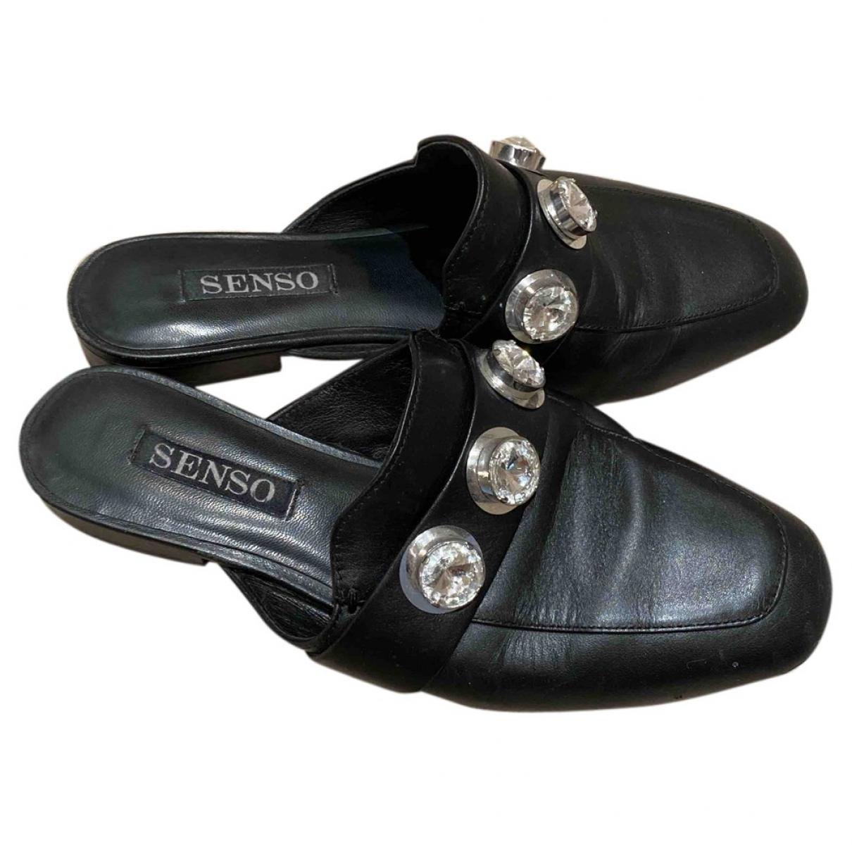 Senso \N Mokassins in  Schwarz Leder