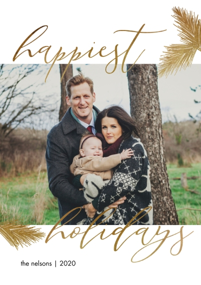 Holiday Photo Cards 5x7 Cards, Premium Cardstock 120lb with Scalloped Corners, Card & Stationery -Lovely Script