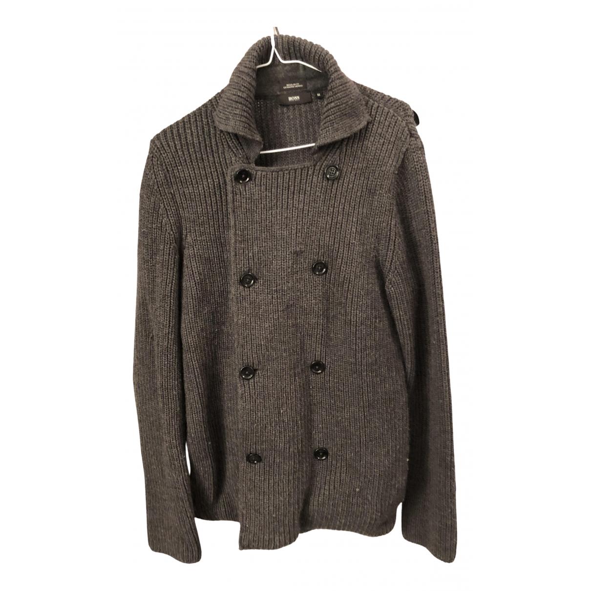 Boss N Grey Wool Knitwear & Sweatshirts for Men M International