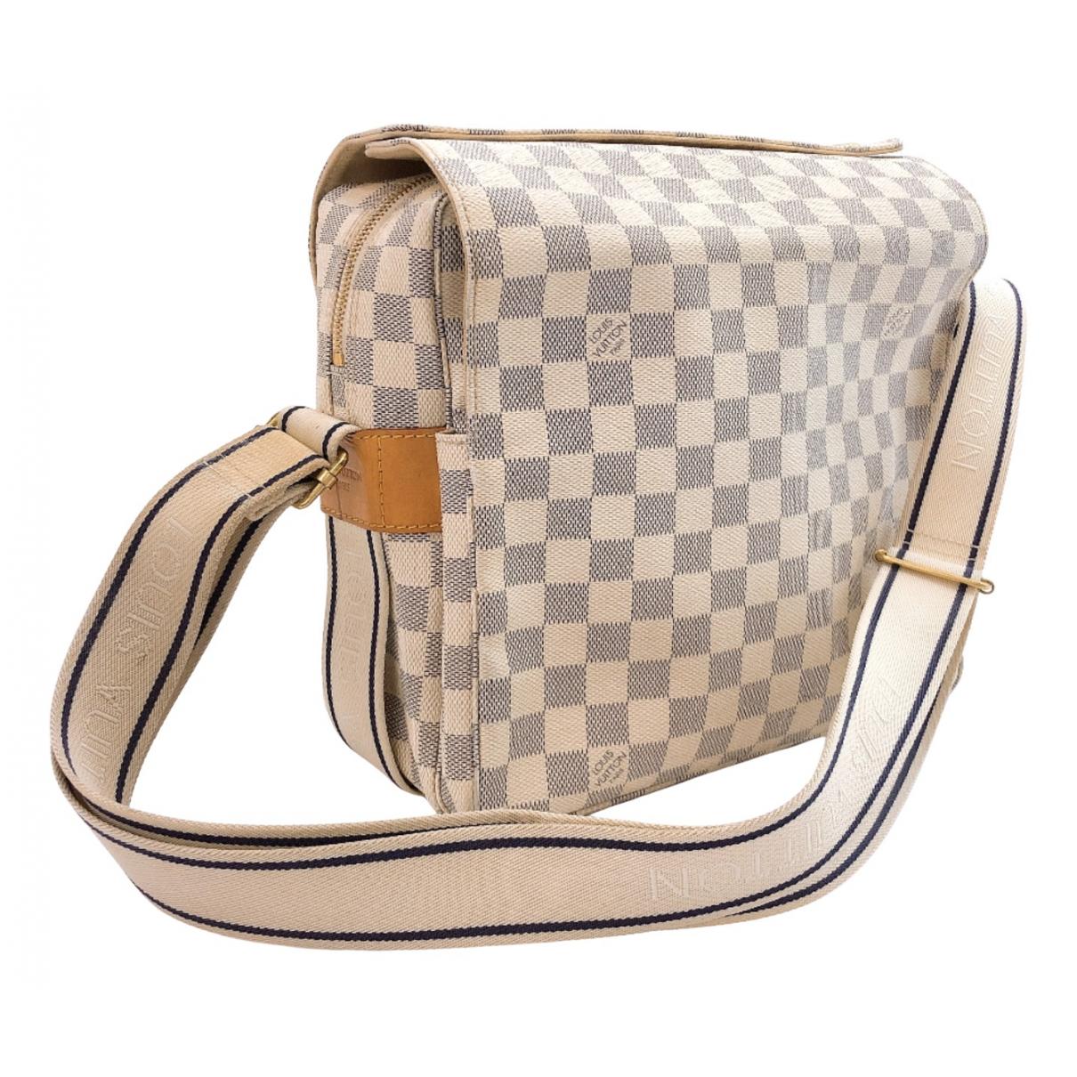 Louis Vuitton Naviglio Blue Cloth handbag for Women N