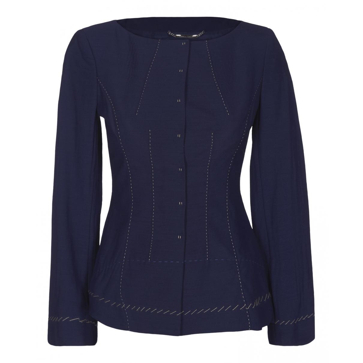 Alberta Ferretti N Blue Cotton jacket for Women 8 UK