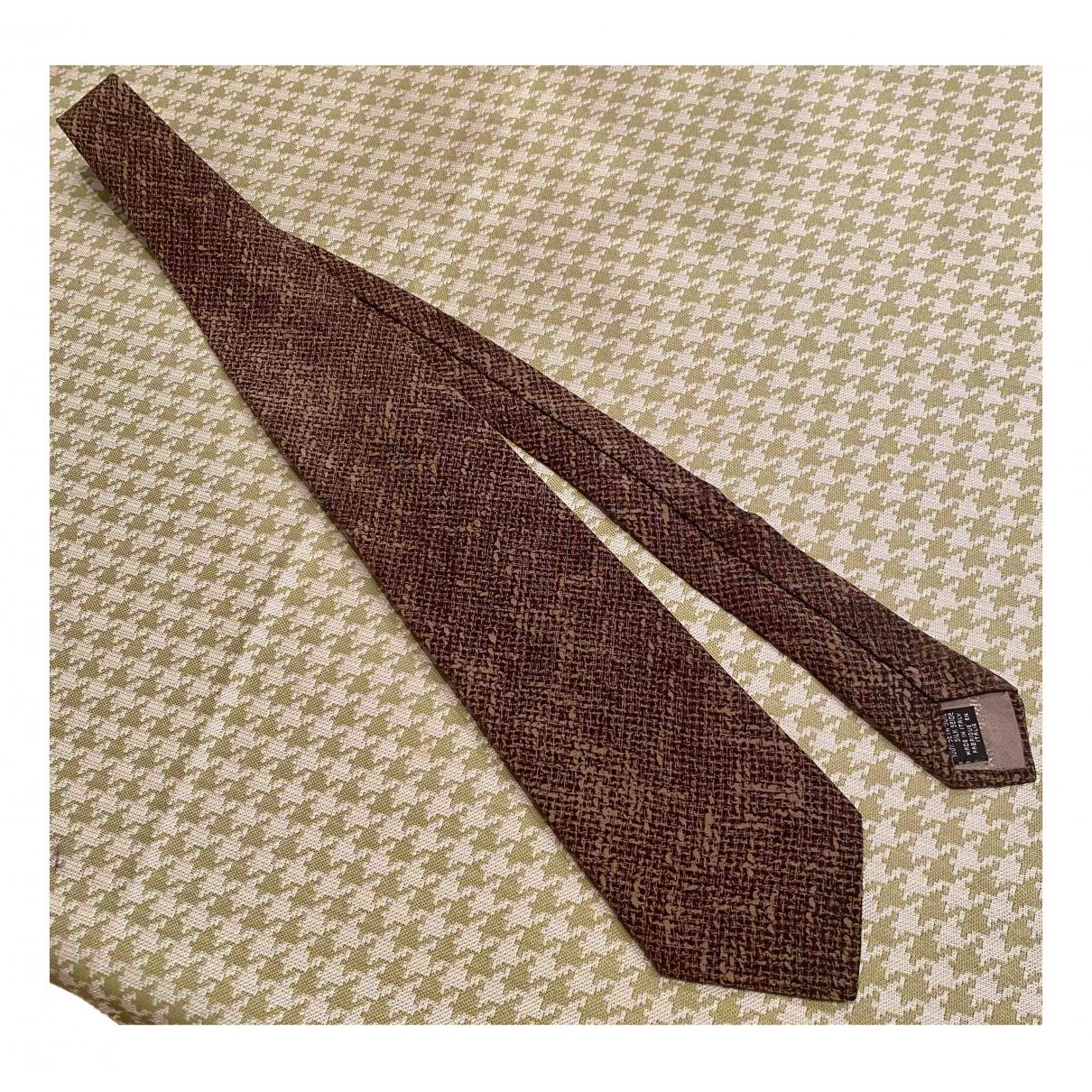 Giorgio Armani - Cravates   pour homme en soie - marron