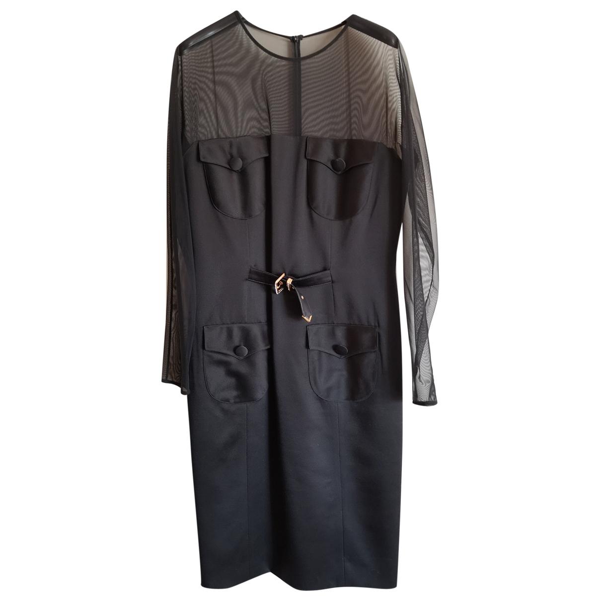 Genny \N Kleid in  Schwarz Seide