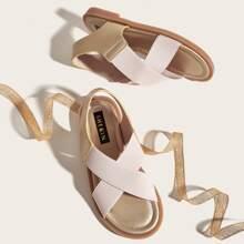 Toddler Girls Elastic Criss Cross Sandals