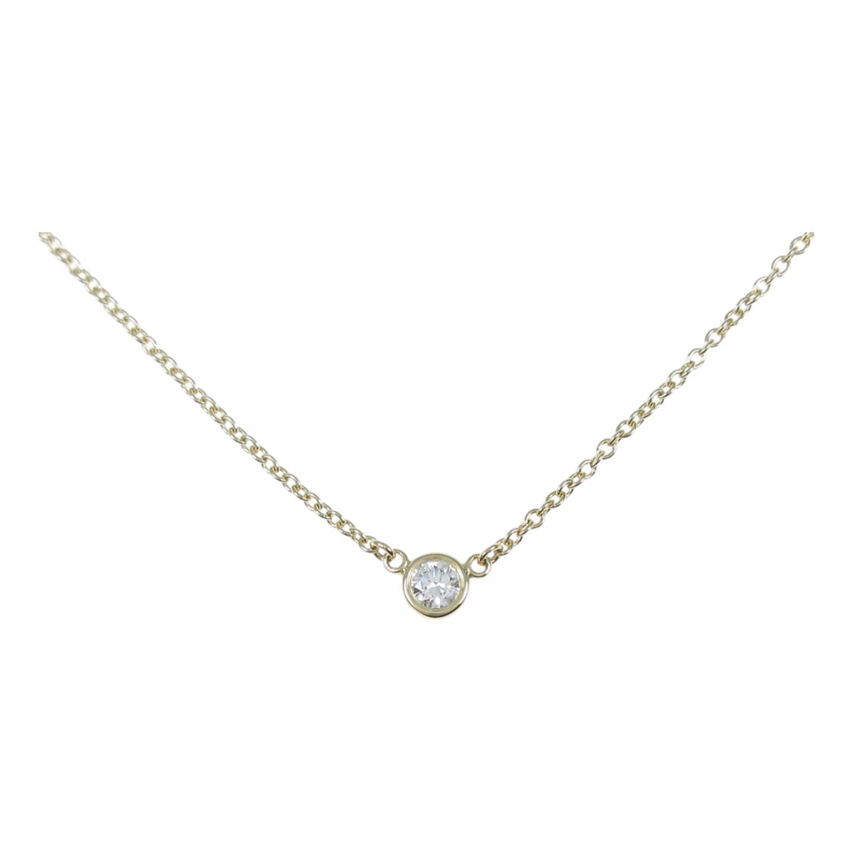 Tiffany & Co \N Silver Yellow gold necklace for Women \N