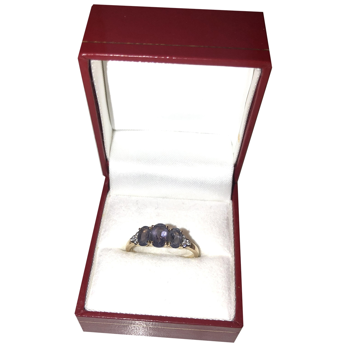 Non Signe / Unsigned Amethyste Ring in Gelbgold