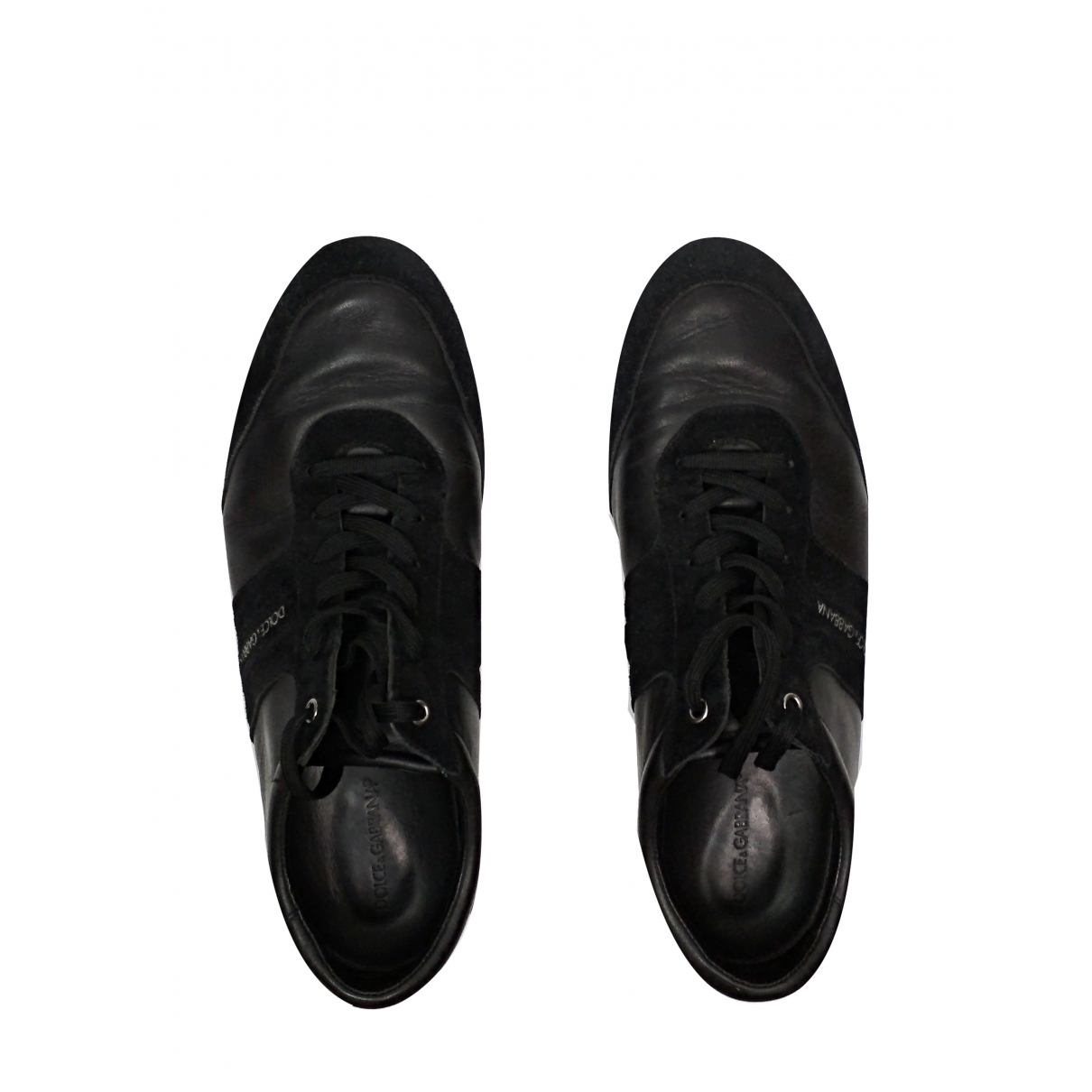Dolce & Gabbana \N Black Leather Trainers for Men 11 US