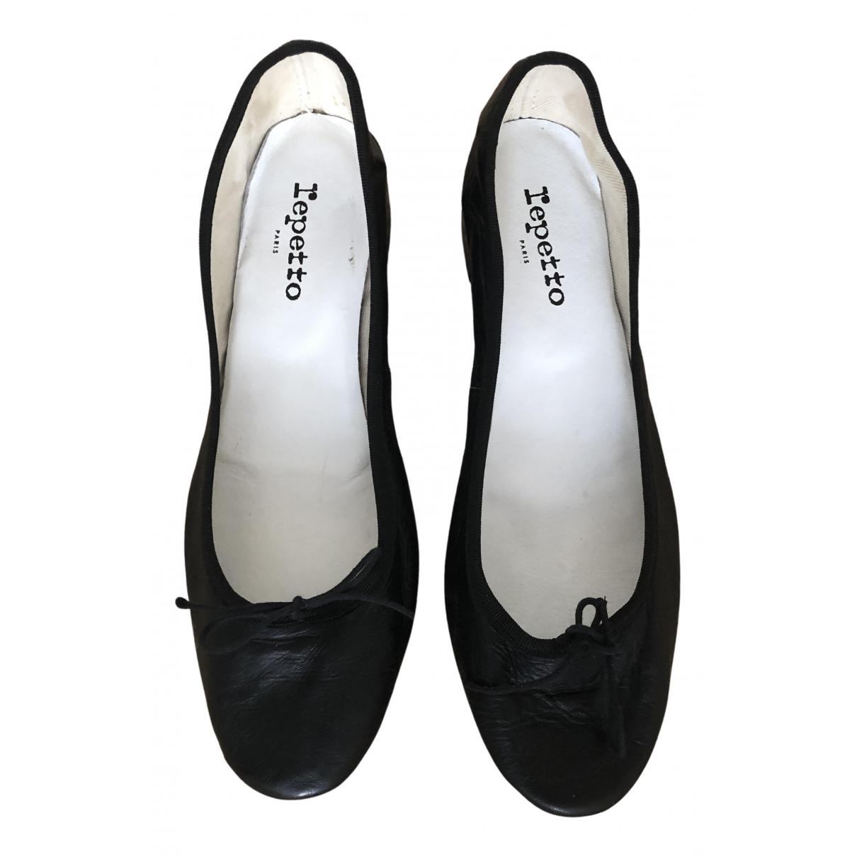 Repetto - Ballerines   pour femme en cuir - noir