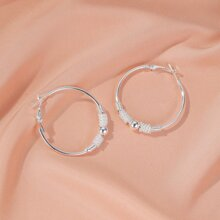 Ball Decor Hoop Earrings