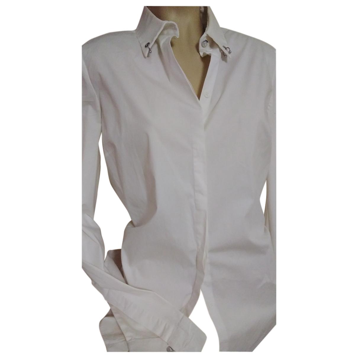 Versace \N Top in  Weiss Baumwolle