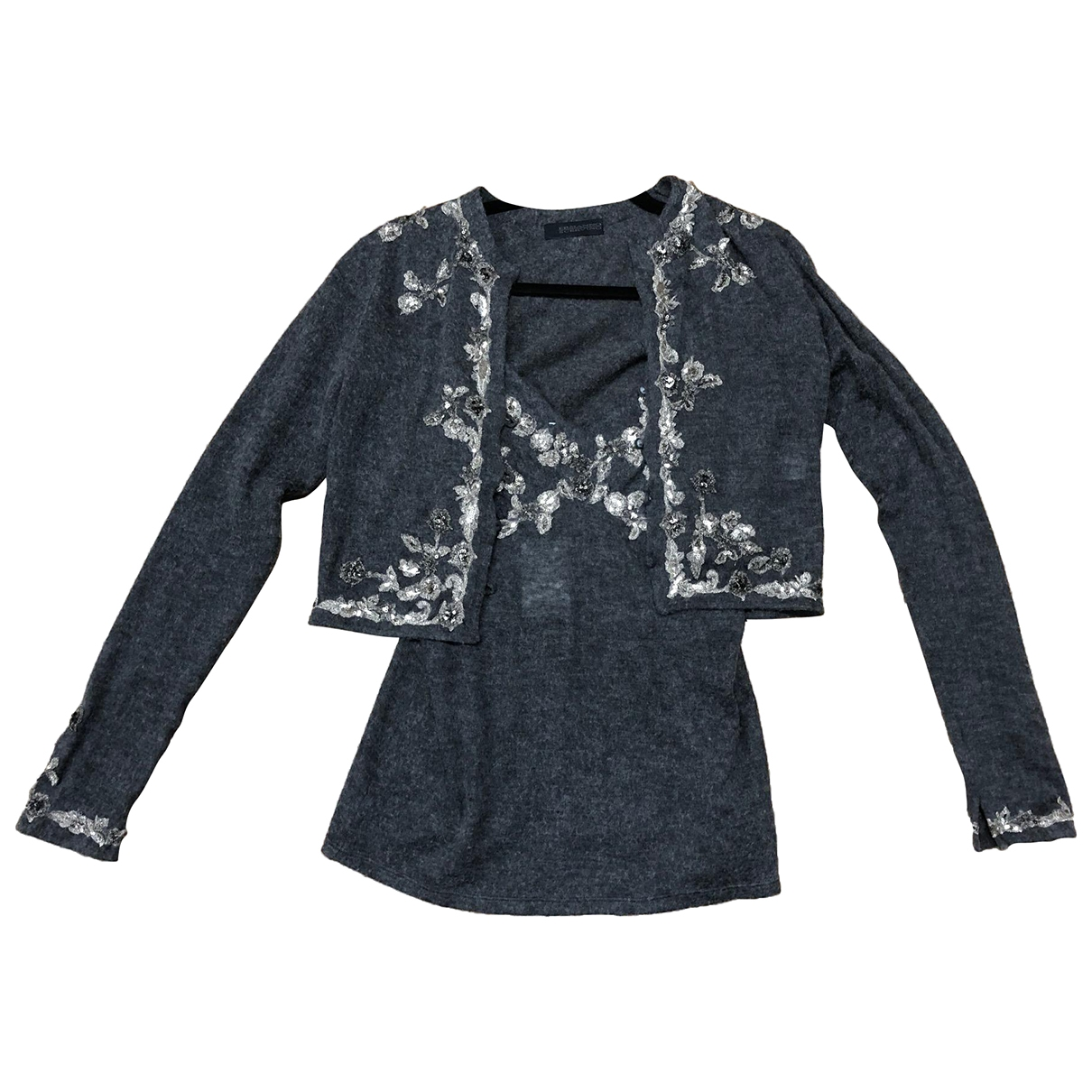 Ermanno Scervino \N Pullover in  Grau Wolle