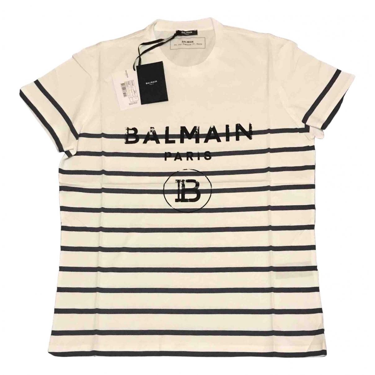 Balmain \N White Cotton T-shirts for Men L International