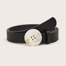 Cinturon con hebilla con boton