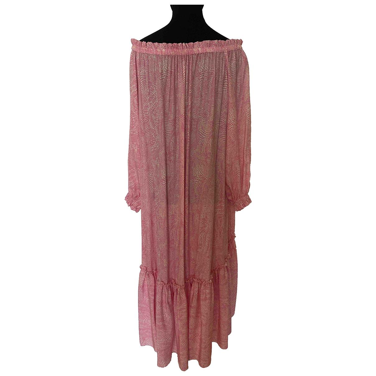 Federica Tosi N Pink Silk dress for Women 40 IT