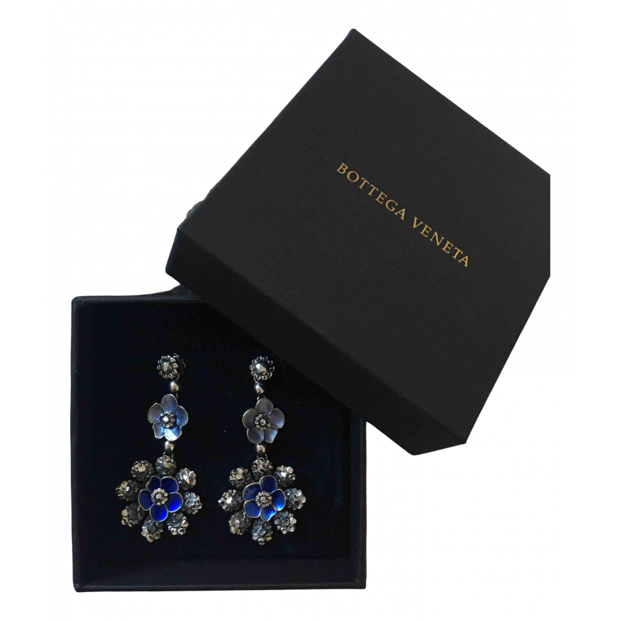 Bottega Veneta - Boucles doreilles   pour femme en argent - bleu