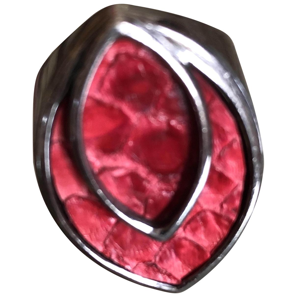 Guerreiro - Bague   pour femme en argent - rouge