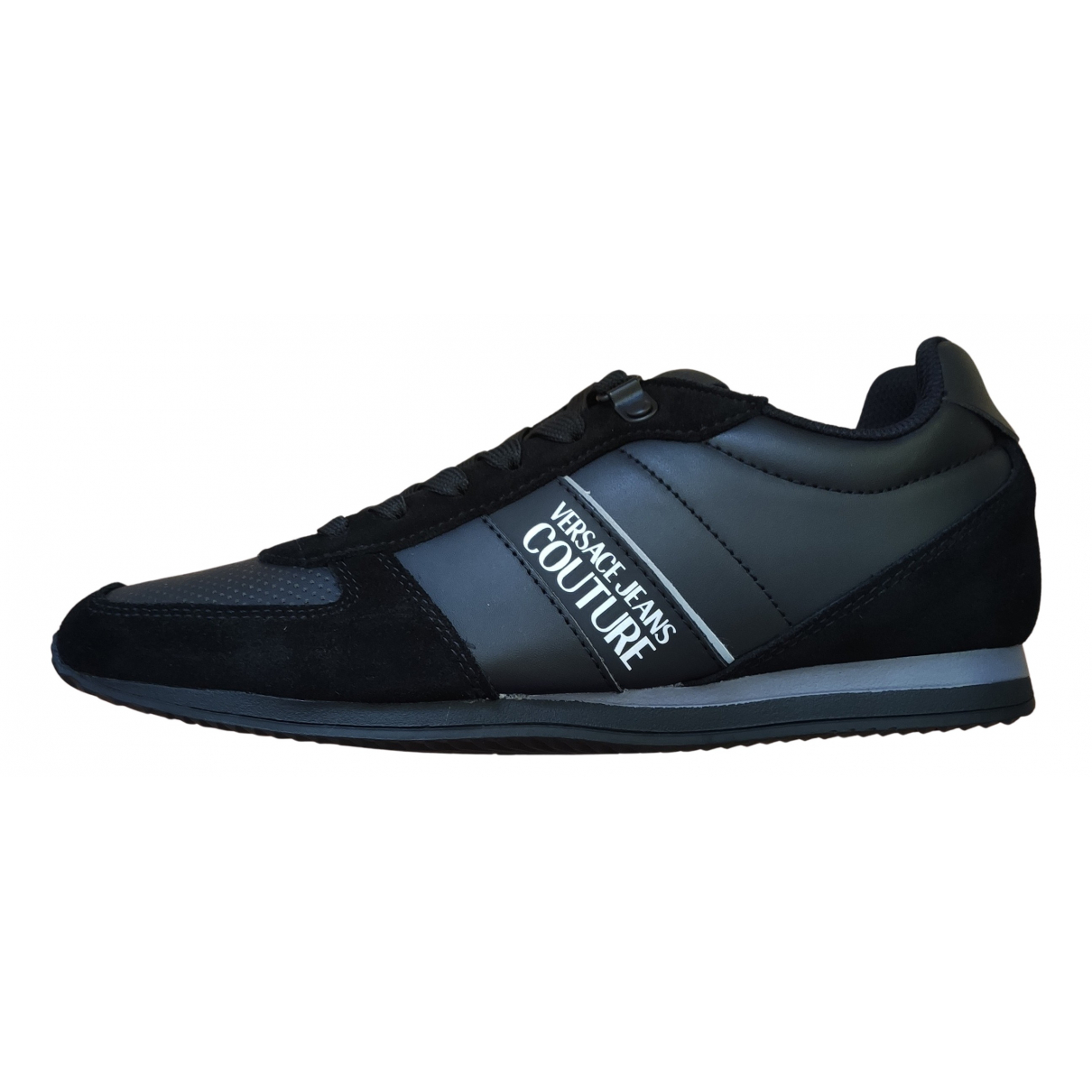 Versace Jeans \N Sneakers in  Schwarz Leder