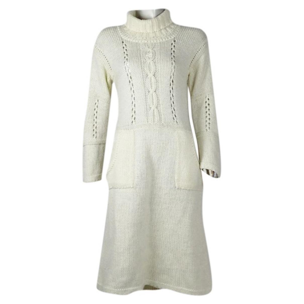 Courreges - Robe   pour femme en laine - blanc