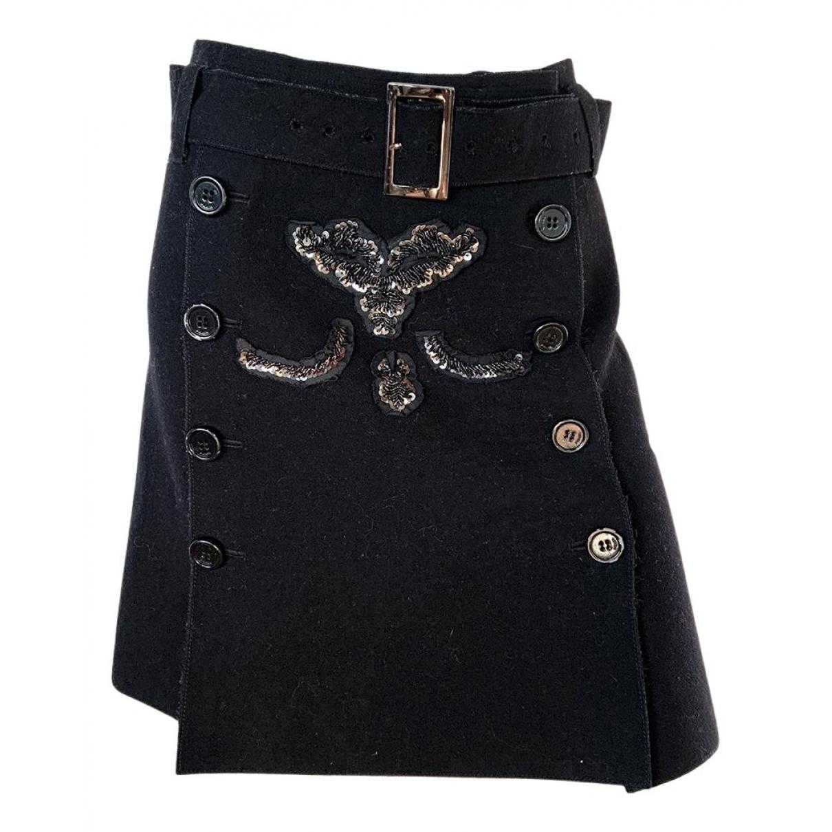 Prada N Black Wool skirt for Women 44 IT