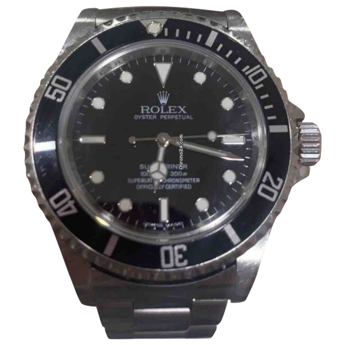 Rolex Submariner Black Steel watch for Men \N