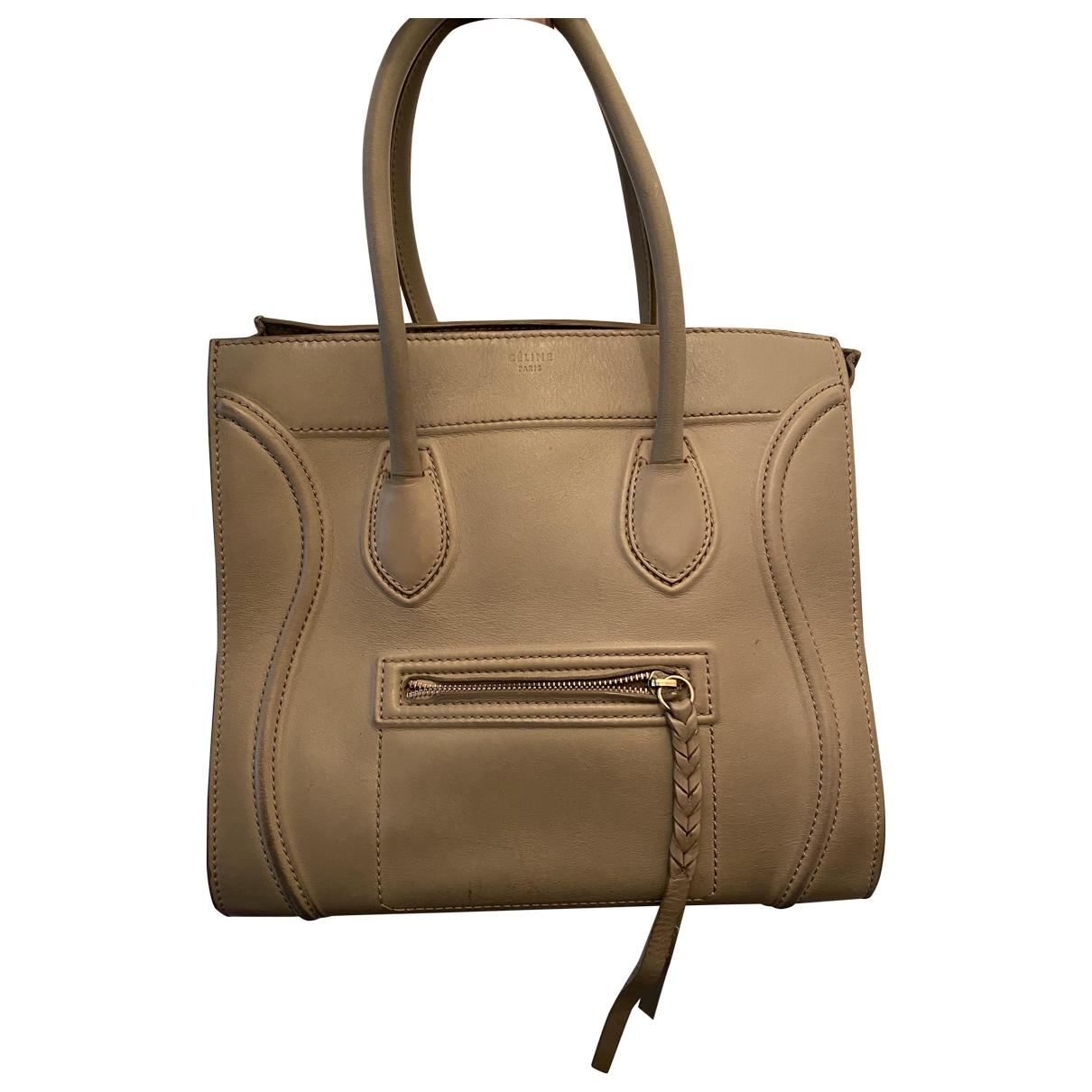 Celine Luggage Handtasche in  Beige Leder