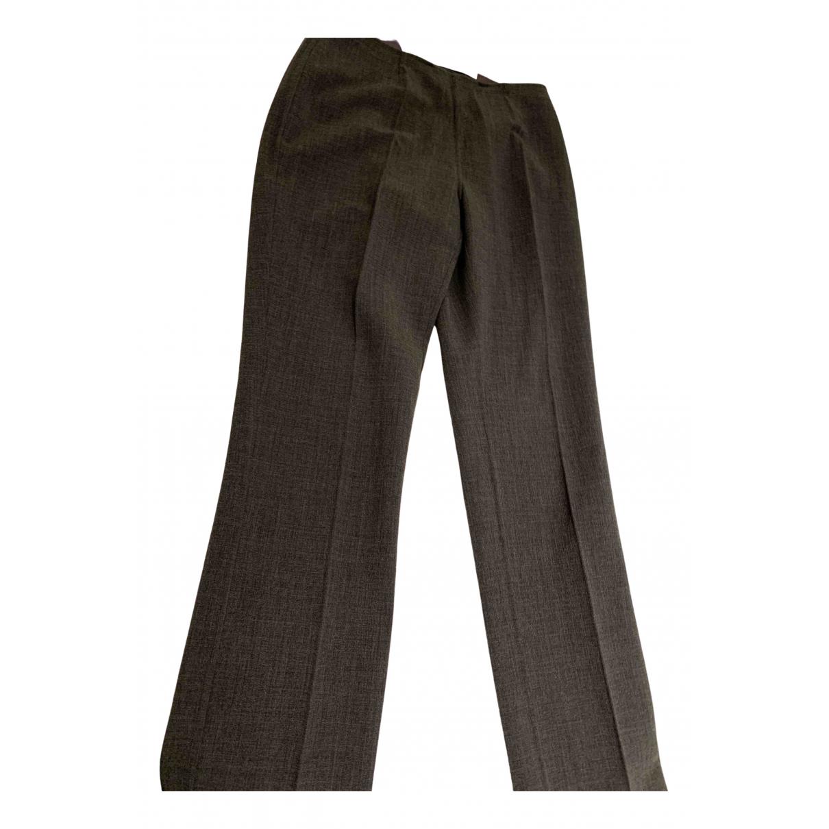 Celine N Grey Wool Trousers for Women 36 FR