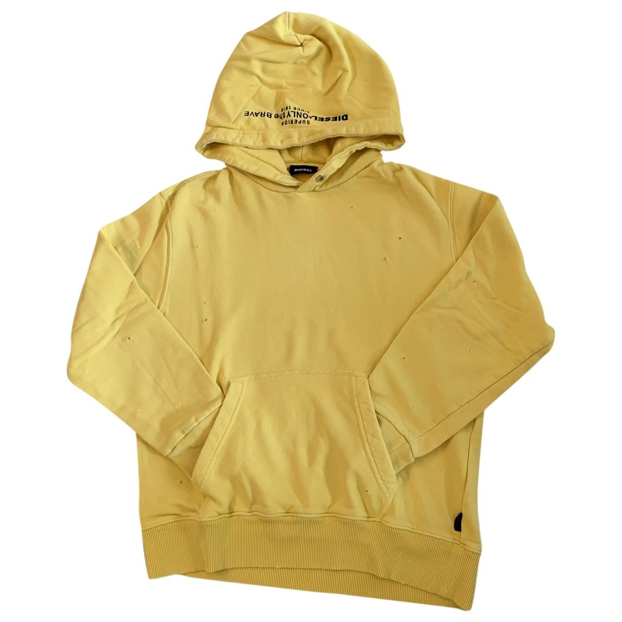 Diesel - Pull   pour enfant en coton - jaune