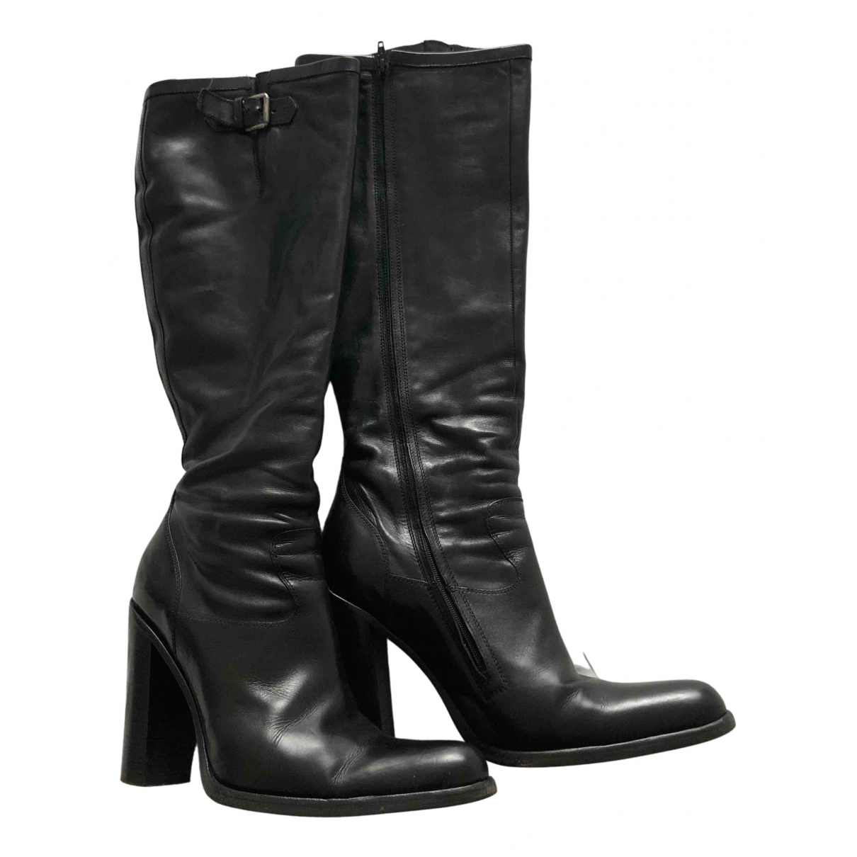 Free Lance Queenie Black Leather Boots for Women 40 EU