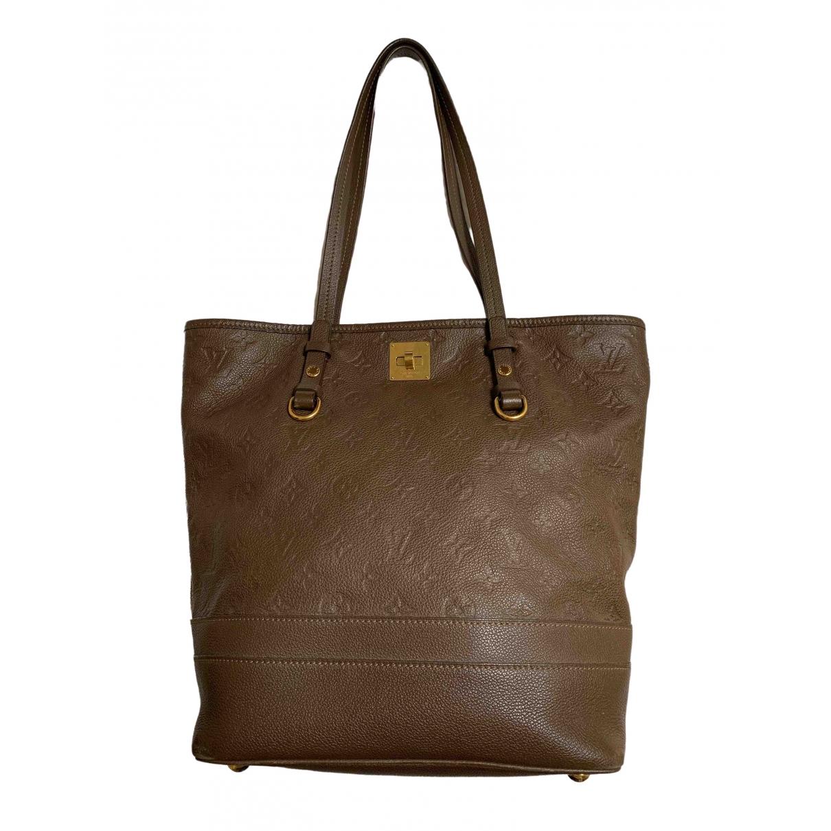 Louis Vuitton Citadine Brown Leather handbag for Women \N