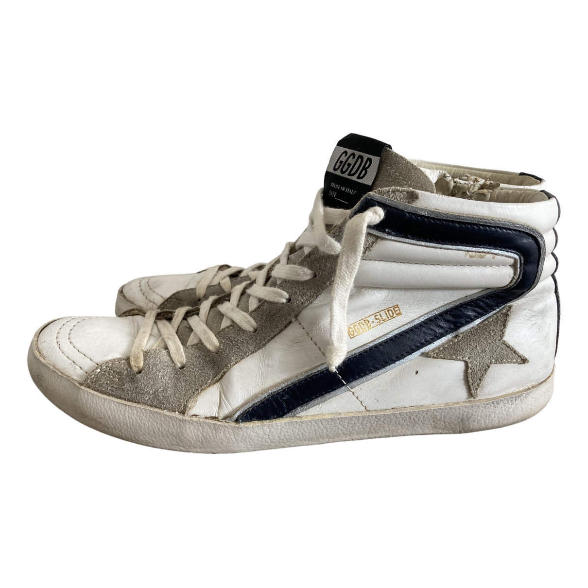 Golden Goose Slide White Leather Trainers for Women 40 EU
