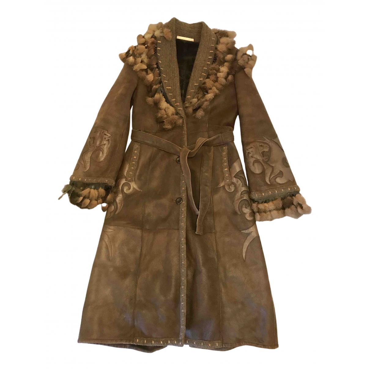 Class Cavalli \N Brown Fur coat for Women 38 IT
