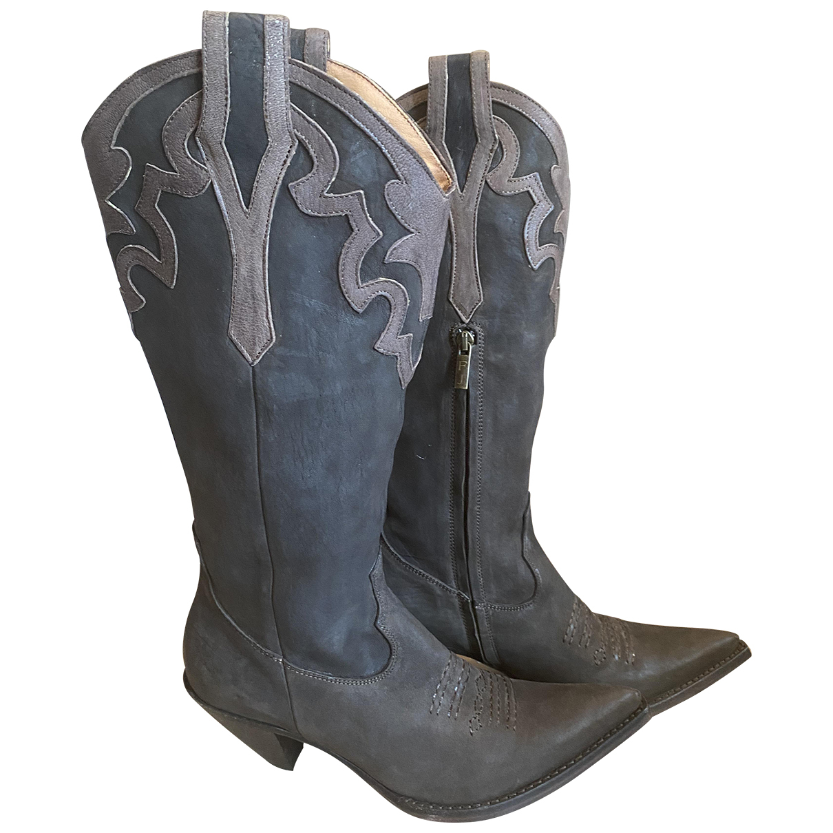 Non Signé / Unsigned N Leather Boots for Women 37 EU