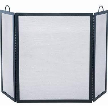 S-1505 3 Fold Black Wrought Iron Screen