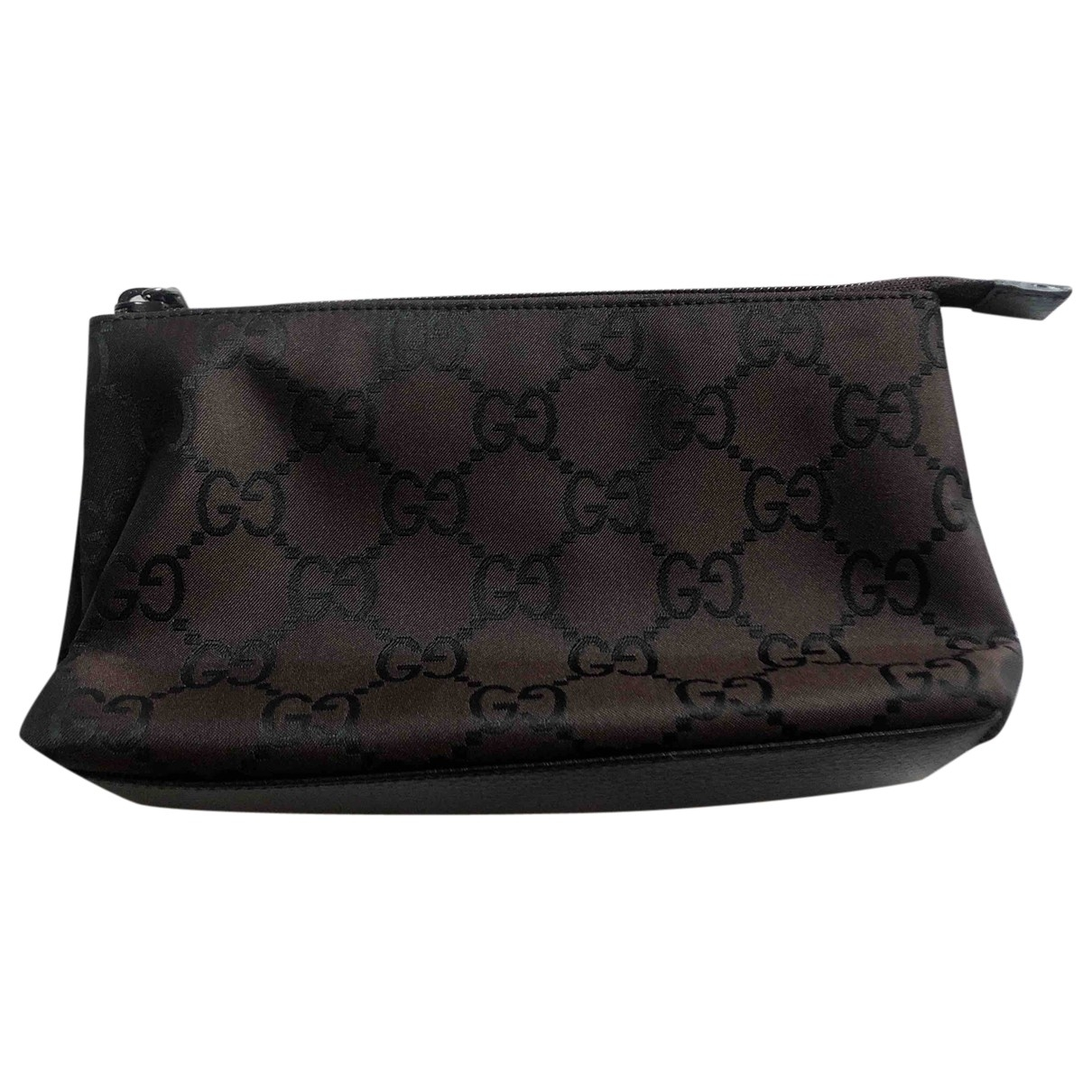 Gucci \N Clutch in  Braun Leinen