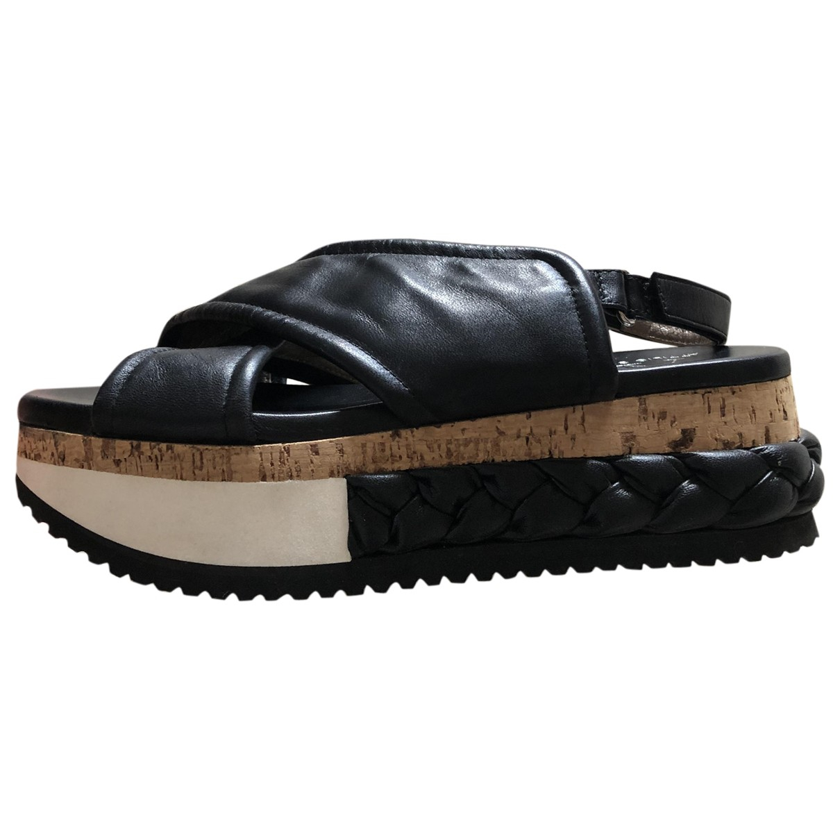 Agl \N Sandalen in  Schwarz Leder