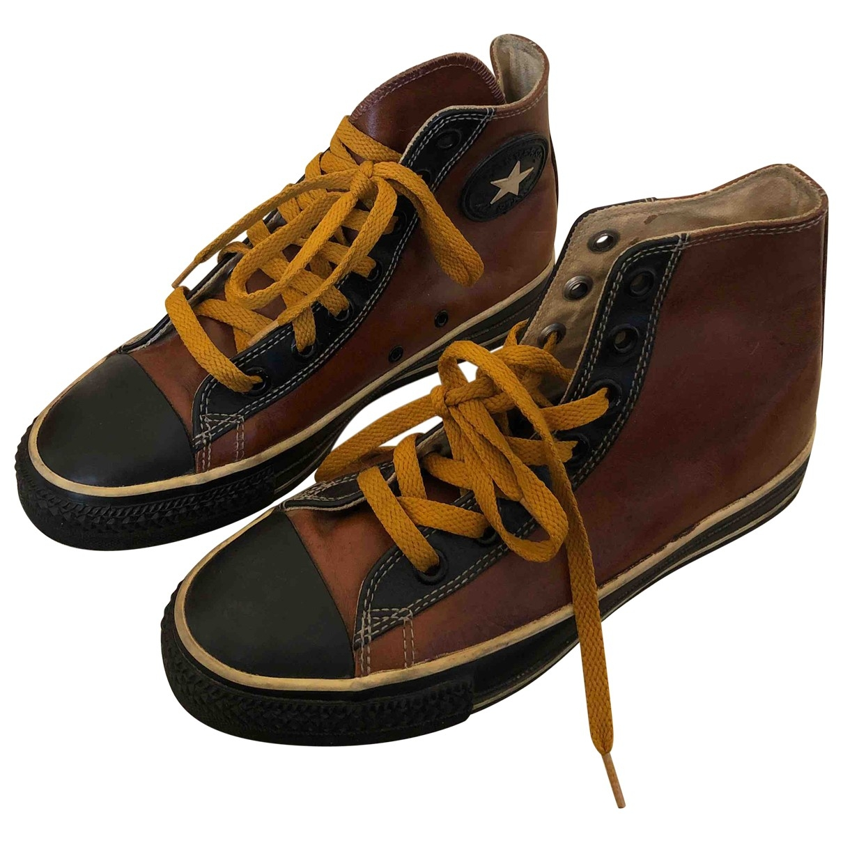 Converse \N Brown Leather Trainers for Men 5 UK