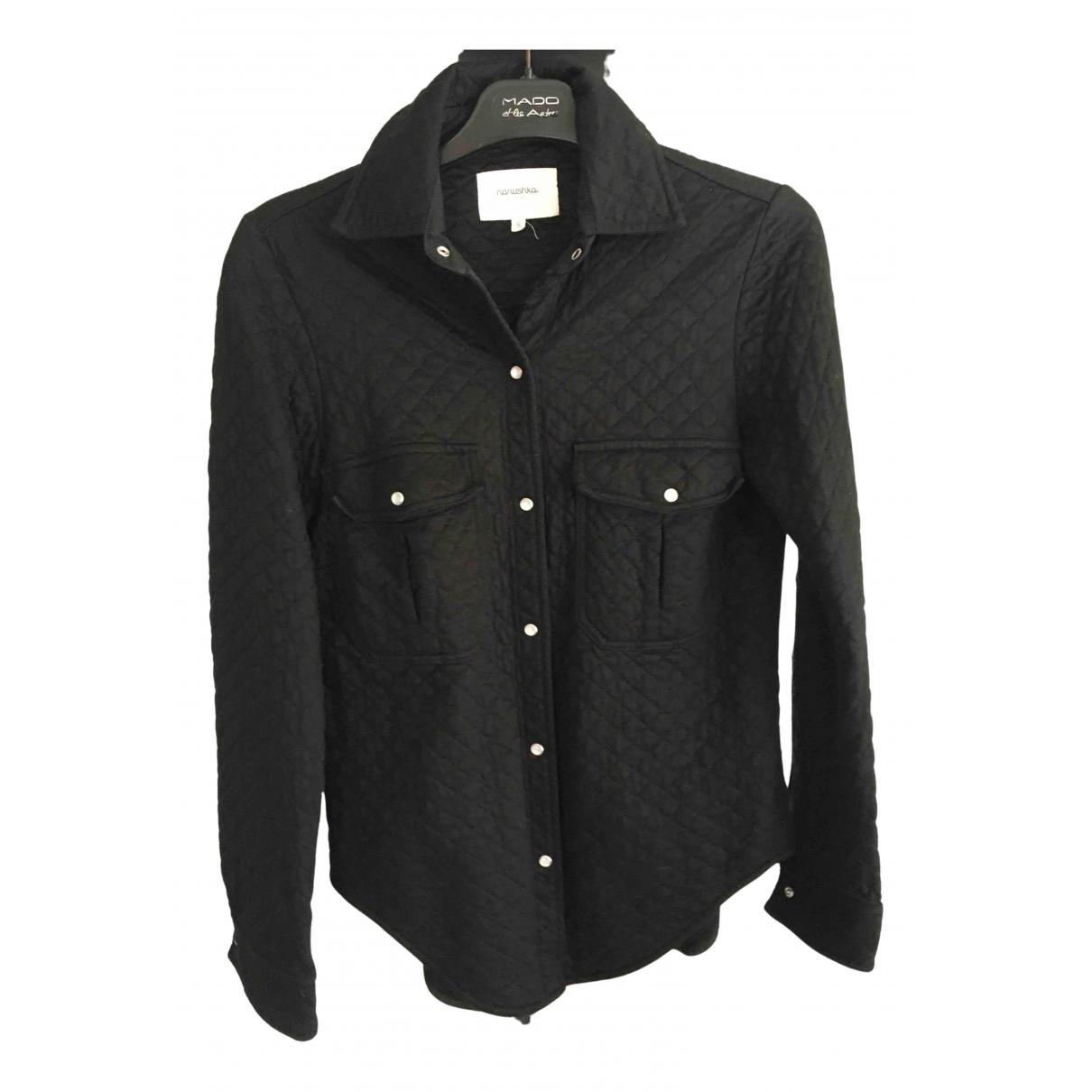 Nanushka - Top   pour femme en coton - noir