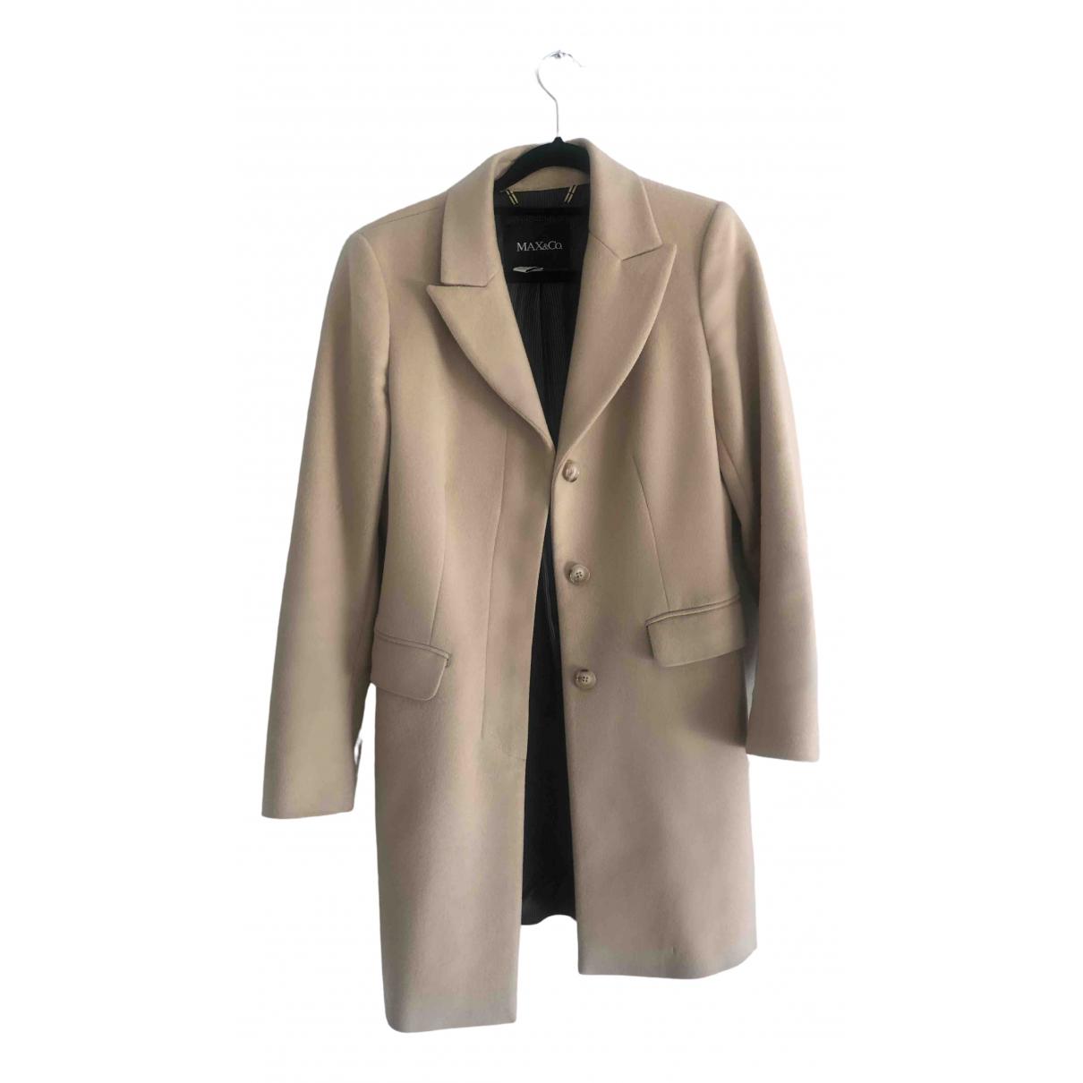 Max & Co \N Beige Wool coat for Women 38 IT
