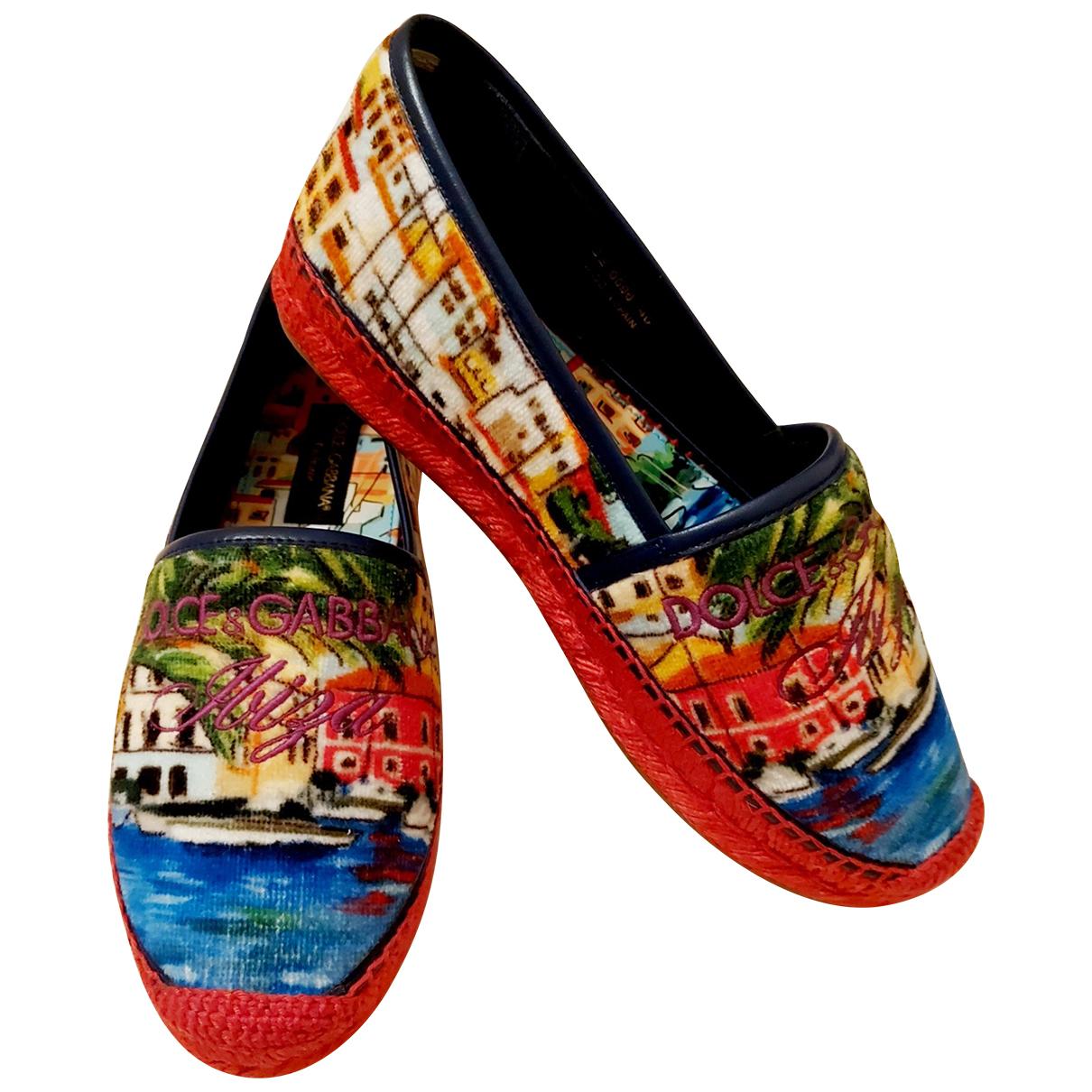 Dolce & Gabbana - Espadrilles   pour femme en velours - multicolore