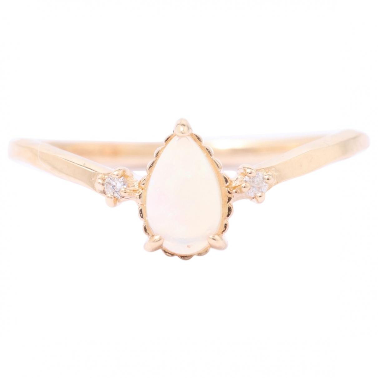 - Bague Opale pour femme en or jaune - dore