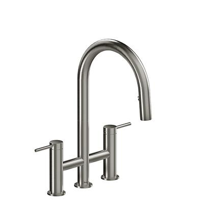 Azure AZ400SS Widespread Kitchen Faucet with Spray 1.5 GPM  in Stainless