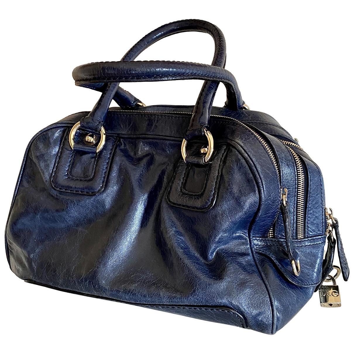 D&g \N Handtasche in  Blau Leder